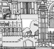 London toile mocha Sticker