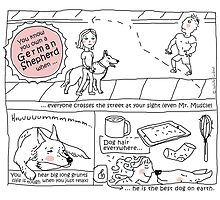 German Shepherds owner / Dog doodle by eyecreate