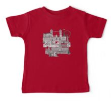London toile red Baby Tee