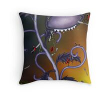 Bionic Flower and Stickmen Army Throw Pillow