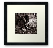 when solitude is required... Framed Print