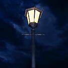 Lamp Pole on a Dark Gloomy Night  by RatManDude