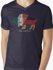 Buffalo Roots - German Irish Mens V-Neck T-Shirt