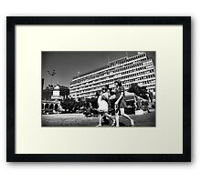 On the Plaza Framed Print