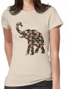 Psychedelic Elephant T-Shirt Womens Fitted T-Shirt