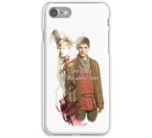 2 Sides Same Coin MERLIN iPhone Case/Skin