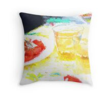 Amalfi Picnic (artist's study) [Gary Guthrie] Throw Pillow