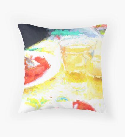 Amalfi Picnic (artist's study) [Gary Guthrie] Throw Pillow