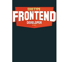 front end developer html5 Photographic Print
