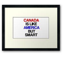 I Love Canada Hockey Framed Print
