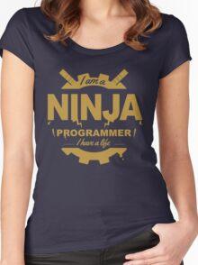 programmer : i'm a ninja programmer - gold Women's Fitted Scoop T-Shirt