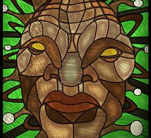 Face of Boe Stained Glass by UncleFrogface