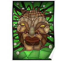Face of Boe Stained Glass Poster