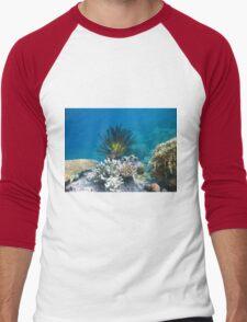beautiful flower coral  Men's Baseball ¾ T-Shirt