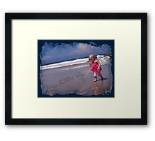 'Happy Fathers' Day!' Framed Print