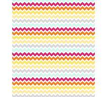 Colorful Retro Chevron Pattern Photographic Print