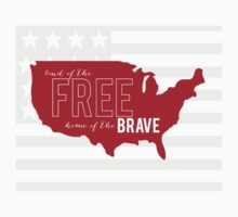 Land of The FREE, home of The BRAVE Kids Tee