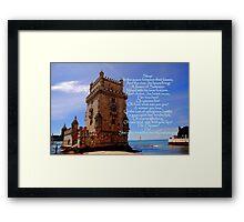 Torre de Belém, Lisbon, Portugal  Framed Print