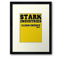 Stark Industries Clean Energy Dept. Framed Print