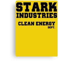 Stark Industries Clean Energy Dept. Canvas Print