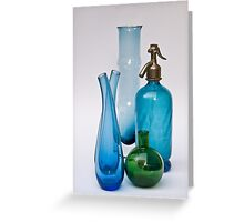 Still Life With Coloured Glass Greeting Card