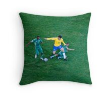 Steven Pienaar Tackels Kaka Throw Pillow