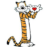 calvin and hobbes love heart by mejen0782