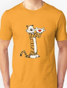 calvin and hobbes love heart T-Shirt