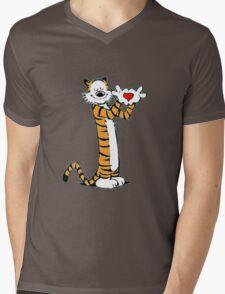calvin and hobbes love heart Mens V-Neck T-Shirt