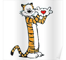 calvin and hobbes love heart Poster