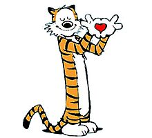 calvin and hobbes love heart Photographic Print