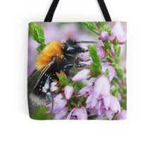 Bumble bee in Heather Tote Bag