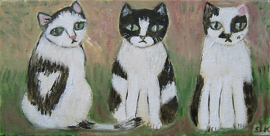 Cow Cats by sharonkfolkart