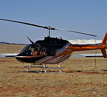 Bell 206B3 Helicopter by RatManDude