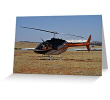 Bell 206B3 Helicopter Greeting Card