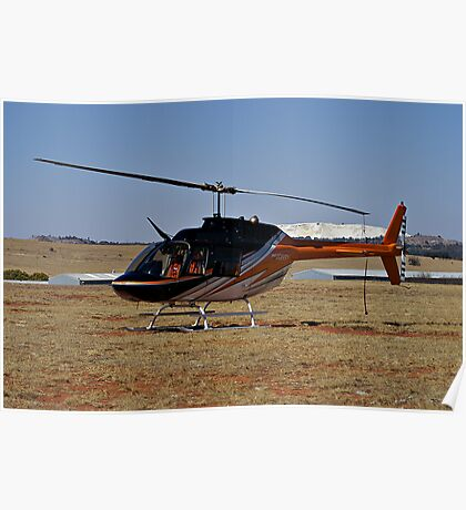Bell 206B3 Helicopter Poster