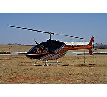 Bell 206B3 Helicopter Photographic Print