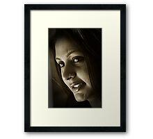 Portrait of Lady - IV Framed Print