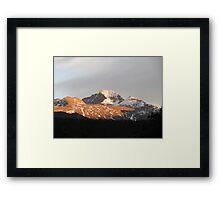 A Long Sunet, Longs Peek Colorado Framed Print
