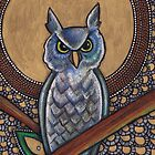 Icon VI: The Owl by Lynnette Shelley