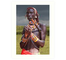 SAMBURU WARRIOR - KENYA Art Print