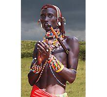 SAMBURU WARRIOR - KENYA Photographic Print