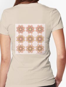Bridal Bouquet Foot Flowers Womens Fitted T-Shirt