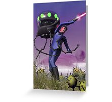 Robot Fighter Greeting Card