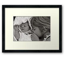 I love you baby sister Framed Print
