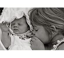 I love you baby sister Photographic Print