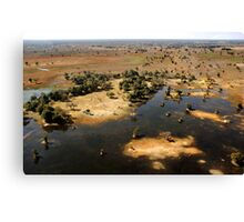 Bird's eye view of the Okavango Delta, Botswana Canvas Print