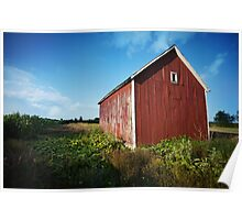 Small Red Barn Poster