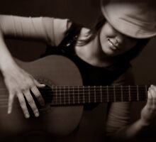 Girl & Guitar 2 by VioDeSign