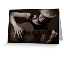 Girl & Guitar 2 Greeting Card